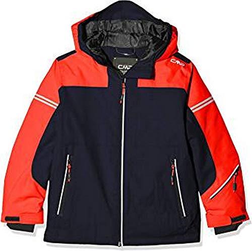 CMP Jungen Skijacke 39W1874 Jacke, Black Blue, 116 (S)