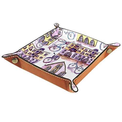 Chuangxin Pintor y Bicicleta Plana de Microfibra Cubo, Caja de Almacenamiento de Suministros de Oficina de Papelería de Escritorio Artículos de Artículos de Artículos de Artículos Caja de 20,5 x 20,5 cm, multicolor, 20.5x20.5cm