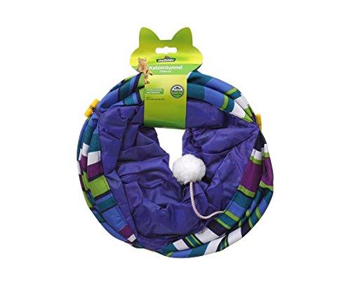 Dehner Katzentunnel Color XL, Ø 25 cm, Länge 90 cm, Polyester, blau