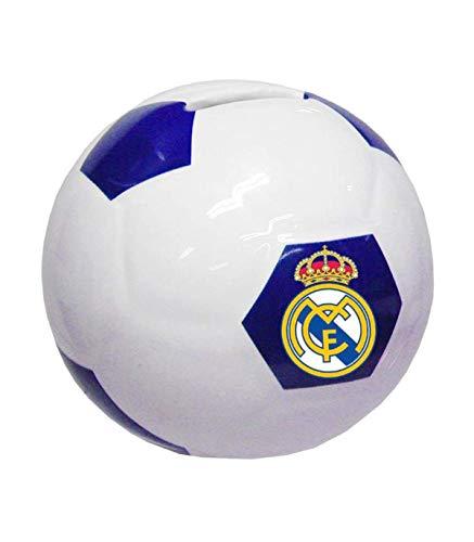 CYP IMPORT S cerámica con Forma de balón de Real Madrid Huchas Decorativas Muebles Pegatinas Decoración del hogar Unisex Adulto, Poliéster, Multicolor (Multicolor), única
