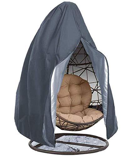 Funda para silla de huevo para colgar en el patio con cremallera Funda impermeable para silla de columpio de huevo 210D Poliéster se adapta a la mayoría de los protectores de polvo de la silla de hue