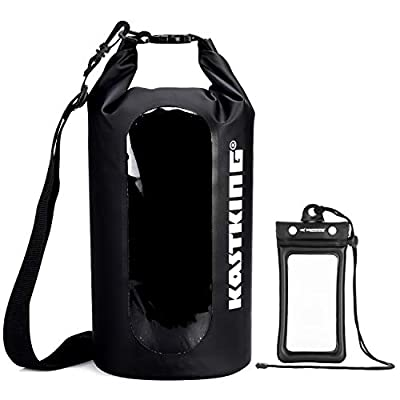 KastKing Floating Waterproof Dry Bag 10L/20L/30L Roll Top Sack Keeps Gear Dry for Kayaking, Rafting, Boating, Swimming, Camping, Hiking with IPX8 Floating Waterproof Phone Case