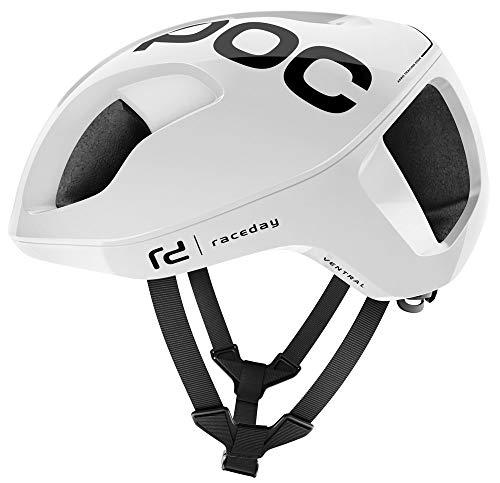 Poc Ventral Spin Fahrradhelm, Unisex, Erwachsene, Unisex, weiß Hydrogen weiß Raceday, Medium