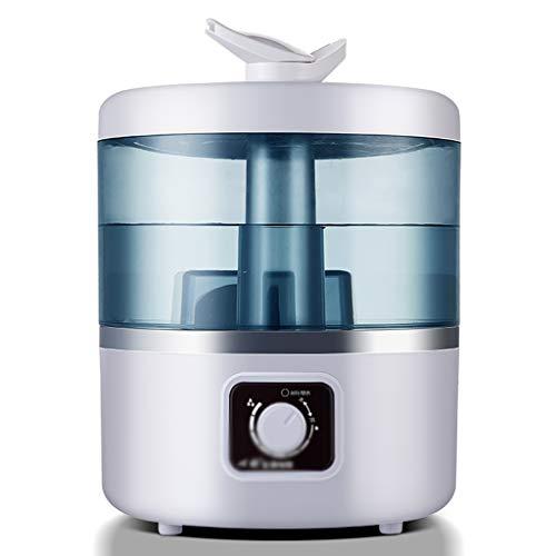Ocye ultrasone koude nevel-luchtbevochtiger – beste luchtbevochtiger voor slaapkamer/woonkamer/baby – grote watertank van 4 liter – automatische uitschakeling en geen filter – dubbele 360 ° sproeier