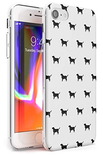 del Modello Black Labrador Dog Slim Cover per iPhone 6 TPU Protettivo Phone Leggero con Animale Domestico Cucciolo Razza Animale Design