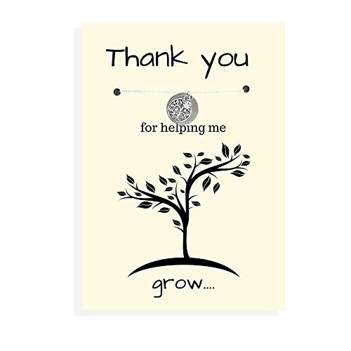 Thank you for helping me grow, Teacher appreciation gift, Mentor gift, Nanny gift, Teacher gift, Nurse appreciation gift, babysitter gift, Teacher necklace