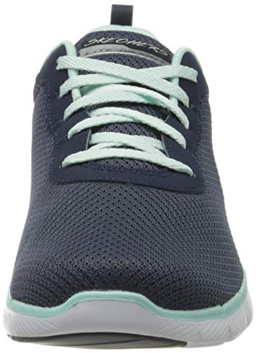 Skechers Flex Appeal 3.0-First Insight, Zapatillas Mujer, Azul (Nvaq Black Mesh/Trim), 36 EU