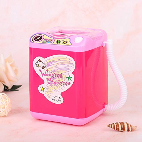 Mini dispositivo limpiador de brochas de maquillaje, mini lavadora de brochas eléctricas, lavadora de brochas de maquillaje, para limpiar brochas de maquillaje niñas, señoras(rose Red)