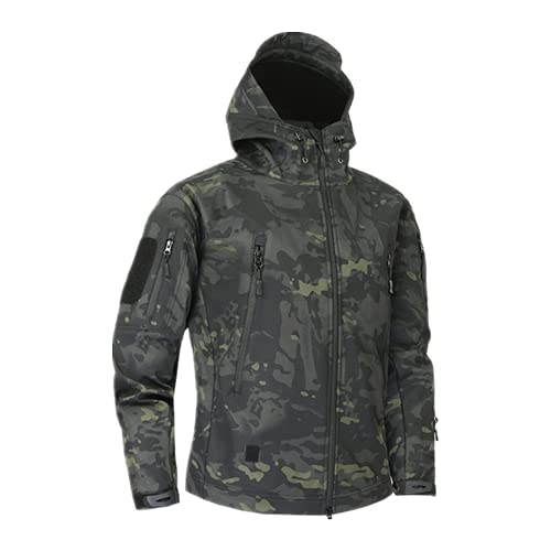 Chaqueta de forro polar militar de camuflaje militar para hombre, Cpbk., M