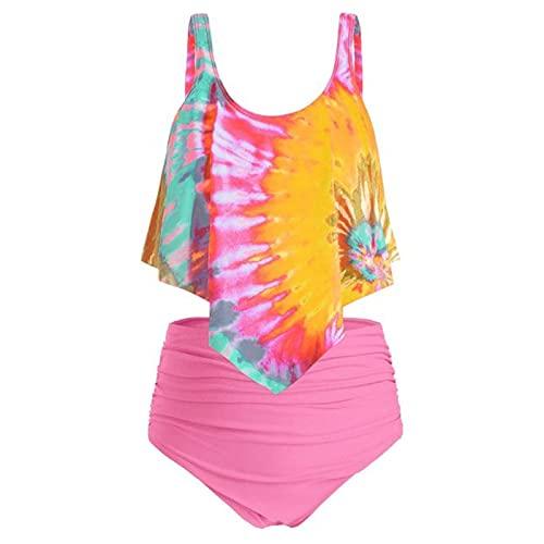 Damen Einteiliger Monokini High Cut Badeanzug String Thong Bikini Vorne GelöSte KnöPfe Tief V Ausschnitt