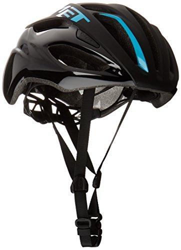 MET Rivale - Casco de Bicicleta - Azul/Negro Contorno de la Cabeza...