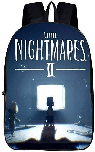 Mono - Mochila infantil Little Nightmares, apta para guardería, escuela primaria, gimnasio (9,13 pulgadas)
