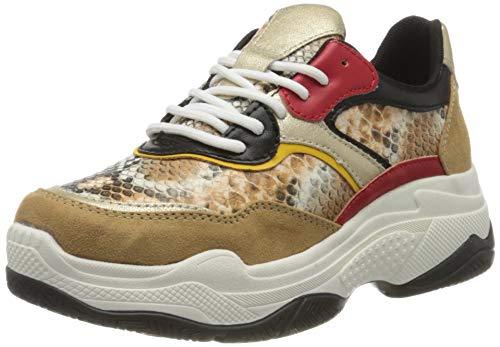 s.Oliver Damen 5-5-23645-34 Sneaker, Braun (Cognac Comb 318), 40