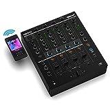 Reloop AMS-RMX-44 BT Mezclador para DJ de club con 4 canales y con Bluetooth con Filtro de sonido, unidad de filtro bipolar con LPF y HPF