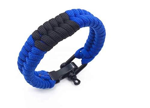 OSS/BJJ Combat Sports - Brazilian Jiu Jitsu Ranked Bracelet - BJJ Wristband - Jiu Jitsu Bracelet - Selection of Colours (Blue, 24)