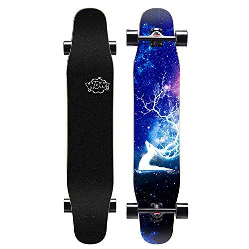 Freestyle Longboard Skateboard Cruiser Standard Maple Skateboard Tabla profesional para principiantes Pincel para niños y niñas Tabla de baile callejero Patinete de cuatro ruedas para adolescentes