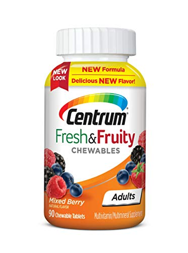Centrum Adults Fresh Fruity Chewables MultivitaminMultimineral Supplement, Mixed Berry, 90 Count