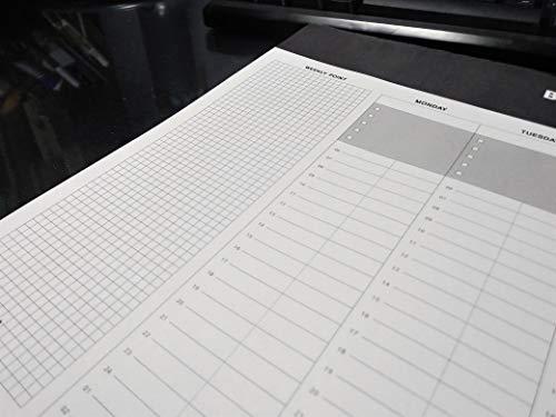 [Feel Soon Retail] Desktop Weekly Planner Pad Undated Calendar Desk Pad Organizer Schedule Agenda to do List Notepad, 52p, 14.8� X 8.9� (1 pcs) Photo #5