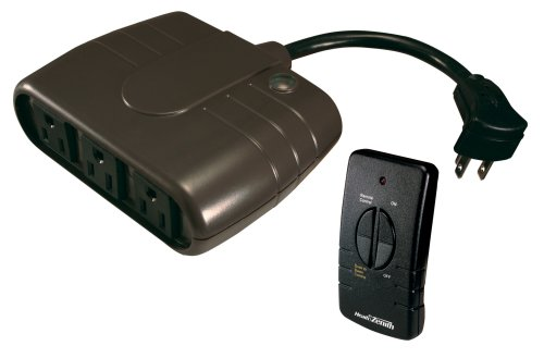 Heath Zenith WC-6022-BK Wireless Command Remote Control Outlet Strip