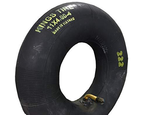 Schlauch Rasenmäher 11 x 4.00-4 Winkelventil 90° Grad, TOP-QUALITÄT, passend für Reifen Aufsitzrasenmäher, Rasentraktor, Rasentrecker