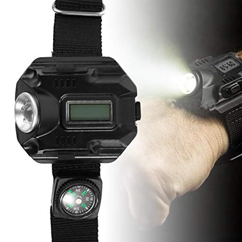 01 100 LMS -240 LMS Wrist Torch LED Reloj De Pulsera, Linterna USB Recargable, Espeleología Caza para Acampar Senderismo
