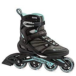 top 10 in line skates Rollerblade Zetrablade Womens Adult Fitness Roller Skates Black / Blue US Womens 9