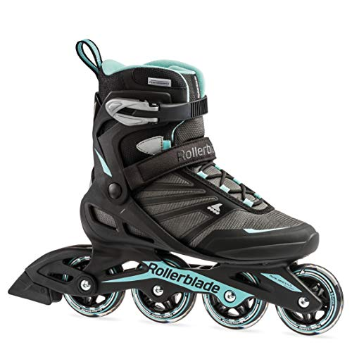 Rollerblade Zetrablade Women's Adult Fitness Inline Skate, Black/Light Blue, US Women's 9