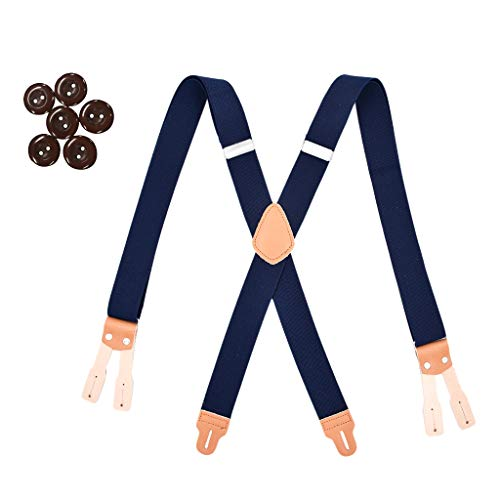 P Prettyia Tirante Elástico Y-Forma con 6 Ojales Botones para Pantalones Casuales de Hombres