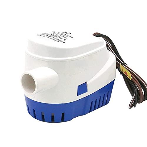 N / B Bomba de Agua de biegia Sumergible automática, Corriente 2.0A, 24V 1100GPH con Interruptor de Flotador 2.9cm / 7.37ines Manguera de diámetro de Salida - Azul