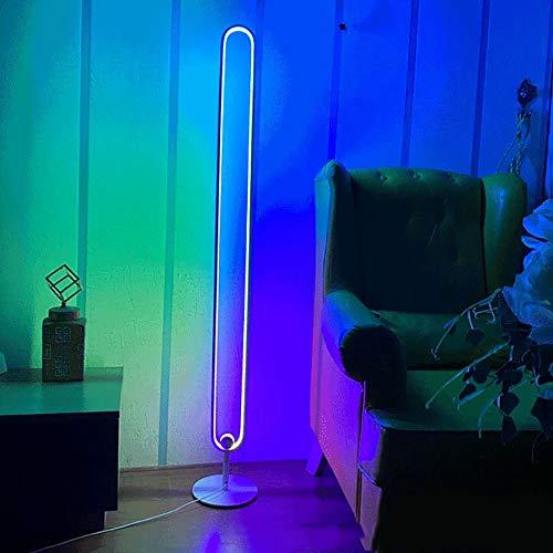 RGB Eck Stehleuchte Nordic Decoration Home Eckleuchte Für Wohnzimmer Nachtlicht Dimmen Stehlampe Schlafzimmer Dekor LED Eckleuchte, Fernbedienung,Weiß