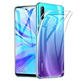 Amonke Funda Huawei P30 Lite - Silicona Transparente TPU Carcasa, Flexible Suave Cristal Clear Ultra Slim Antigolpes Antiaraazos Bumper Case Cover para Movil Apple Huawei P 30 Lite