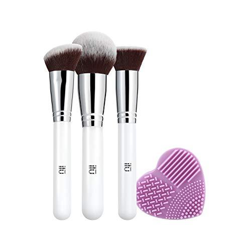 T4B ILU Must Have Set 4 Pcs Pinceaux De Maquillage Avec 1 Nettoyeur Pour Pinceaux Violet