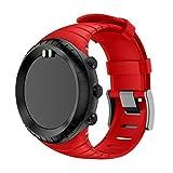 supore suunto core watch cinturino, braccialetto di ricambio in tpu morbido con gancio metallico per suunto core smart watch, per polso 5.51-9.06 (140mm-230mm)