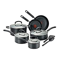 cheap T-fal C561SC Titanium Advanced non-stick temperature display set for thermal points is dishwasher safe, …