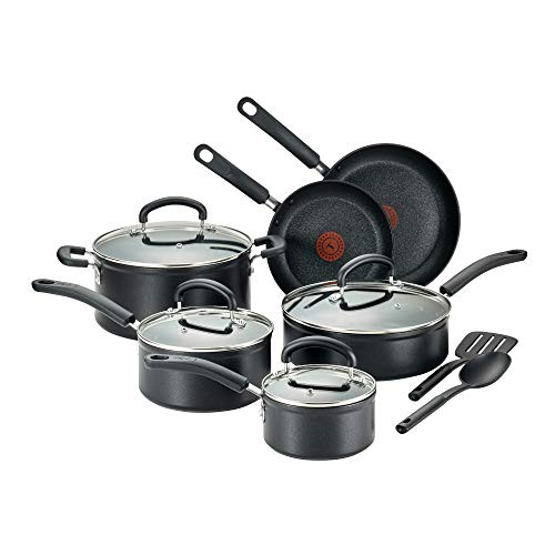 T-fal C561SC Titanium Advanced Nonstick Thermo-Spot Heat Indicator Dishwasher Safe Cookware...