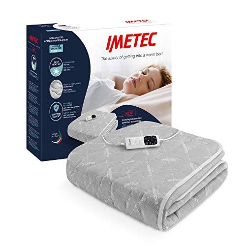 Imetec Adapto - Calientacamas individual 150x80 cm, tejido alcochado, tecnología patentada, rápido calentamiento, sistema de protección Electro Block, 2 controladores con 6 niveles de temperaturas