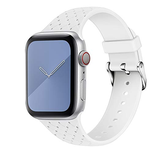 Compatibile con Apple Watch 44 mm 42 mm 40 mm 38 mm Cinturino sportivo in morbido silicone per iWatch serie 5/4/3/2/1 S/M M/L EU81008 (38 mm / 40 mm S/M,#2)