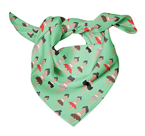 Bimba Verde muñecas lindas ninos pañuelos impresos seda pura del abrigo del...