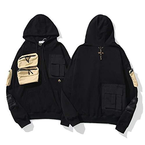Men's Kanye and Scott Cactus Jack Astroworld Hip Hop Hoodie Rapper Hooded Sweatshirt Casual Pullover Long Sleeve Tops (Astroworld 3,Large,)