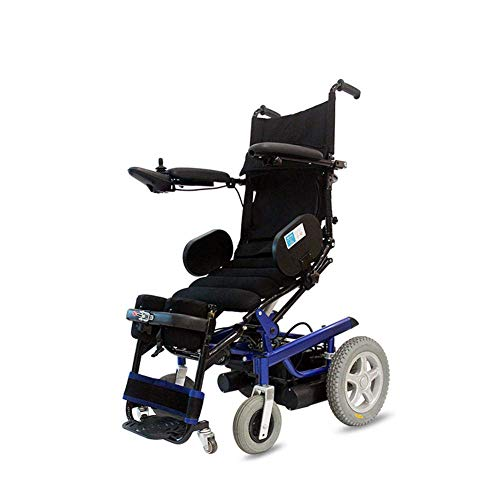 BXZ Faltbares kompaktes Mobilitätshilfsrad Chai Leichte Wheelchai-Elektrorollstühle Elektrisch stehend Ältere Ältere Behinderte Automatische Intelligente Flache Liegeleiter Multifunktionale Schwarzgr