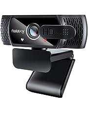Nulaxy Webcam Full HD 1080p, con otturatore per la Privacy per videochiamate, correzione della Luce HD, Funziona con Skype, Zoom, FaceTime, Hangouts, PC/Mac/Laptop/Smart TV