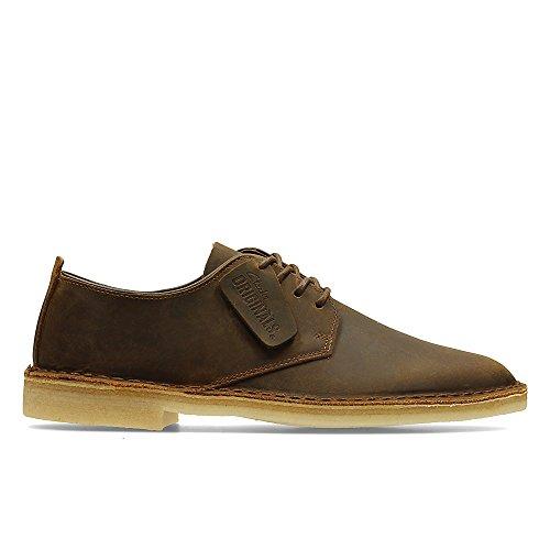 Clarks Clarks Originals Desert London, Herren Derby Schnürhalbschuhe, Braun (Beeswax Leather), 44.5 EU (10 Herren UK)