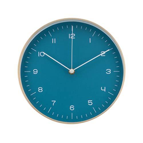 LUUK LIFESTYLE Hochwertige, Schlichte und lautlose Nordic Design Minimal Quarz Wanduhr mit Sekundenzeiger, Küchenuhr, Wohnzimmer Uhr, Büro Wanduhr, Flur, ohne Ticken, dunkel-blau