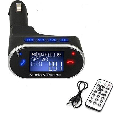 DealMux Trasmettitore FM Bluetooth Kit per auto Lettore MP3 Adattatore per modulatore trasmettitore FM wireless con SD USB e telecomando