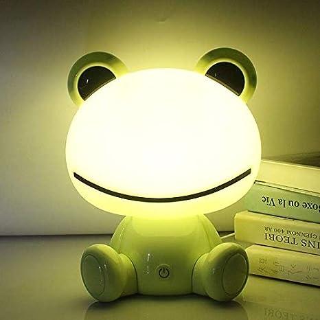 inal/ámbrica de carga USB RUDACAS L/ámpara t/áctil de luz nocturna tres intensidades OSO PRIMOROSO AZUL quitamiedos infantil para dormir ni/ños y beb/és
