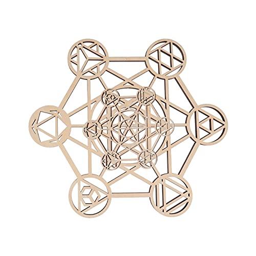 GARNECK 2 Piezas Mandala Arte de Pared de Madera Geometría Sacra Escultura de Pared de Madera Bohemia Meditación Étnica Energía Decoración Colgante de Pared Regalo de Bienvenida para La