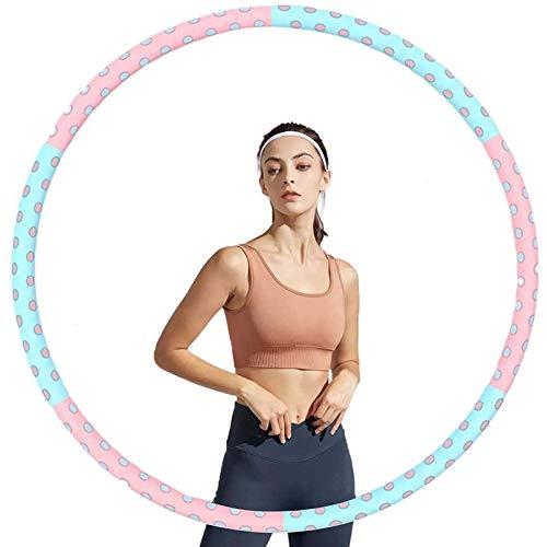 LTLWL Hula Hoop Fitness, Hula Hoop para Adultos, 6 Secciones Professional Hula Hoop Más Estable Y Desmontable Aro De Entrenamiento, para Pérdida De Peso para Saltar Gratis