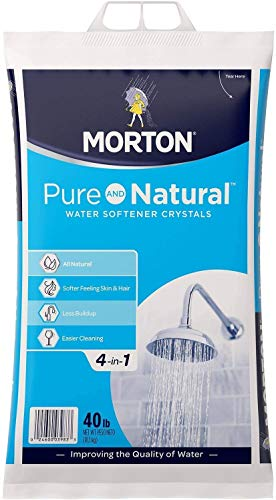 EasyGoProducts Morton-40F Morton Pure & Natural 4 in 1 Crystals – Soft Water Softener Salt – 40 Pounds, white