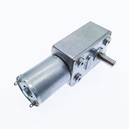 HH-BSDJ, 1pc ZGY370 DC12V motoriduttore a Vite Senza fine Turbo Motoriduttore DC 12V 1RPM 2RPM-100rpm 200rpm Elettrico Cambio Reducer (Color : 1rpm, Size : 24V)