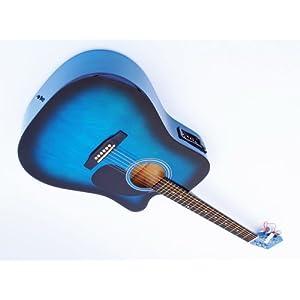 Cherrystone 4260180883299 Cutaway Westerngitarre, Tonabnehmer 4 Band EQ blueburst